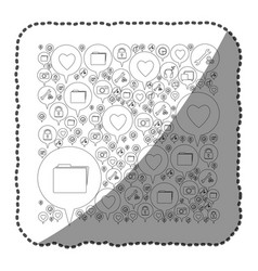 Sticker monochrome pattern formed by dialogue vector