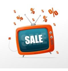 Tv sale vector