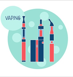 Vaping e-cigarette device vector