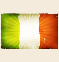 Vintage irish flag poster background vector