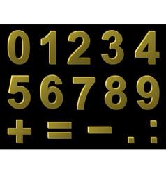 volume metal digits vector image