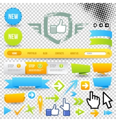Web Template Icon and Arrows vector image