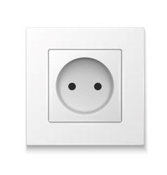 White socket outlet vector image vector image
