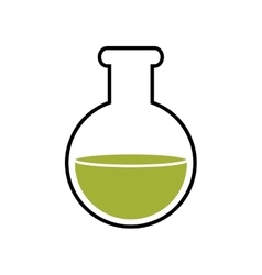 Flask science chemistry laboratory icon vector