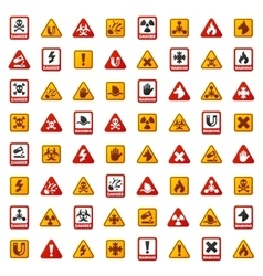 Danger warning attention sign icons vector