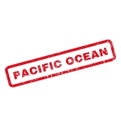 Pacific ocean rubber stamp vector