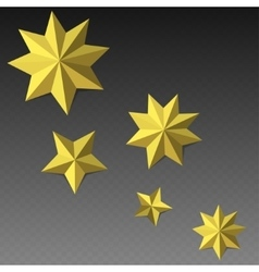 Eight corner paper stars vector image
