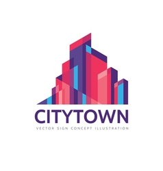 City town - real estate logo template vector