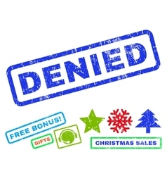 Denied rubber stamp vector