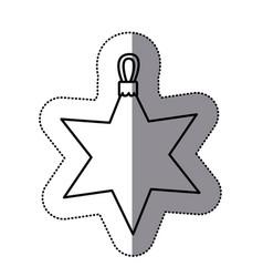 contour sticker start icon vector image