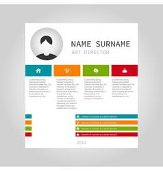 Info graphic person vector image