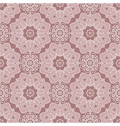 Brown oriental seamless pattern vector