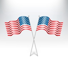 Wavy usa national flags on grayscale vector