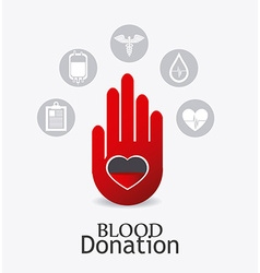 Blood donation design vector
