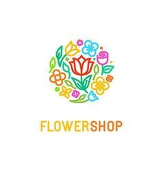 Floral logo design element vector image