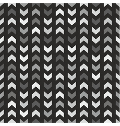 Tile pattern with grey and black arrows on black vector