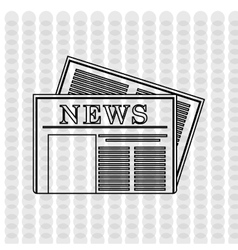 Newspaper icon design vector