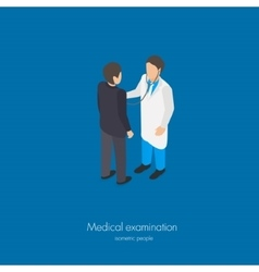 Medical doctor examination vector