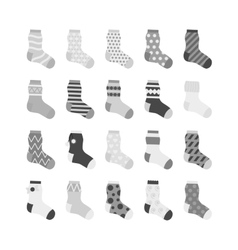 Sock icon collection vector