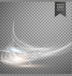 Abstract white transparent light effect background vector