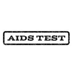 Aids test watermark stamp vector