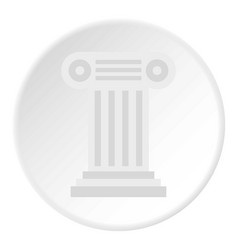 Ancient ionic pillar icon circle vector