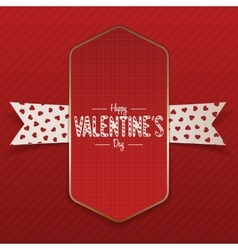 Big vertical realistic valentines day banner vector