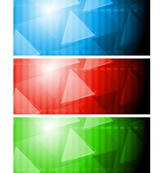 Bright tech banners vector image