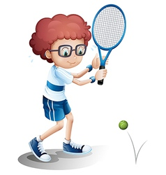 Cartoon tennis boy vector