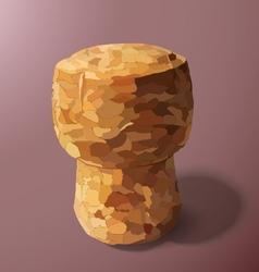 Champagne cork on a pink background vector