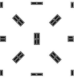 closed wooden door pattern seamless black vector image vector image