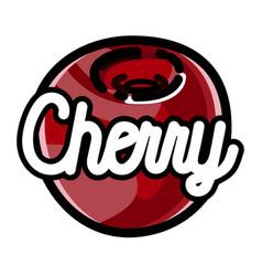 color vintage fruit emblem vector image vector image