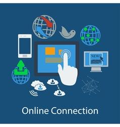 Communication flat design vector image