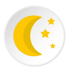crescent and star icon flat style vector image vector image