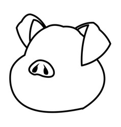 cute pig funny piggy standing and smiling vector image