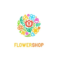 Floral logo design element vector