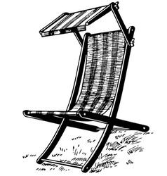 Garden chair vector