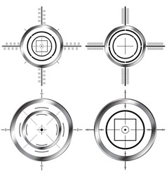 Gun sights vector