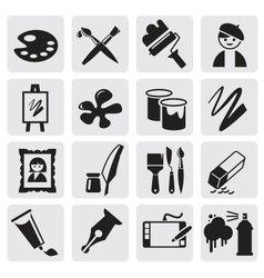 Icons set arts vector image vector image