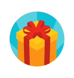 Isometric gift box icon vector image vector image