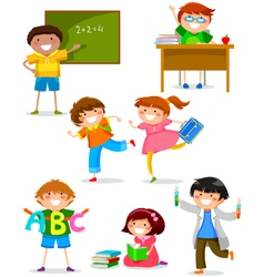 Kids at school vector