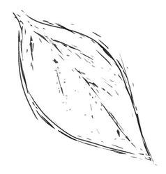 leaf1 vintage vector image vector image