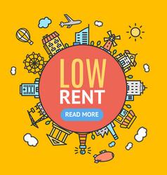 low rent banner vector image vector image