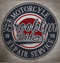 motorcycle custom motorcycle label vintage vector image vector image