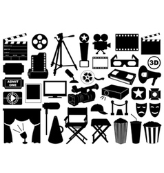 Movie related elements vector image vector image