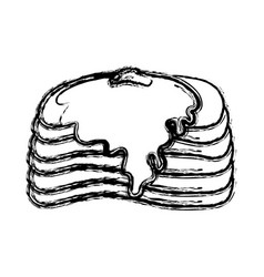 pancakes icon image vector image