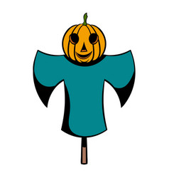 scarecrow icon cartoon vector image