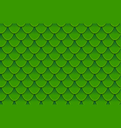 Seamless pattern of colorful green fish scales vector