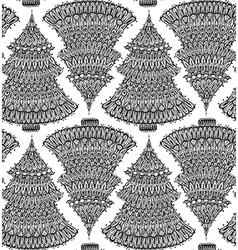 Seamless pattern with hand drawn doodle christmas vector image vector image