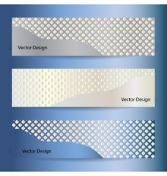 Set of mosaic banners vector image vector image